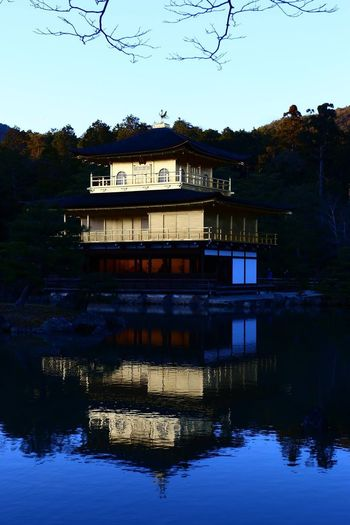 Golden pavilion (kinkakuji) in kyoto Gold Golden Pavilion  Japan