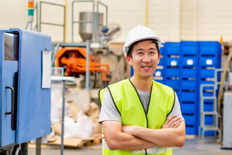 Portrait of a man working
