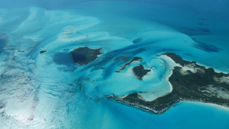 Hawksbill Cay, Bahamas-northern Exuma Cays 45201 Bahamas High Angle View Outdoors Aerial Photography Tranquil Scene Water Sea