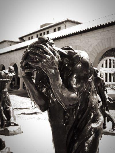 Stanford University Stanford Statue Blackandwhite EyeEm Best Shots - Black + White EyeEm Gallery Black And White California Shades Of Grey Q Quiz Wisedom Wissen Knowledge Sculpture Sculpting A Perfect Body Sculpture Garden
