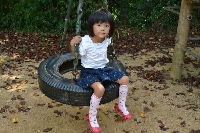 Childhood Children Only Child Full Length One Person Casual Clothing Day Portrait Playing People One Girl Only Outdoors