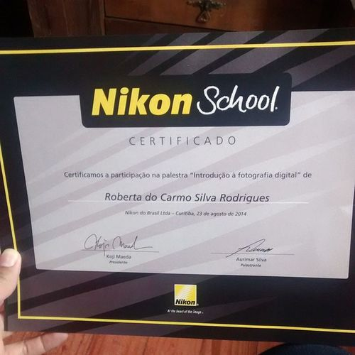 Ta ligado kkkkk meu Certificafo Nikoncuritiba Nikoncuritiba Nikoncuritiba nikon schoolnikon nikonschool top fotografa fotografa D7000