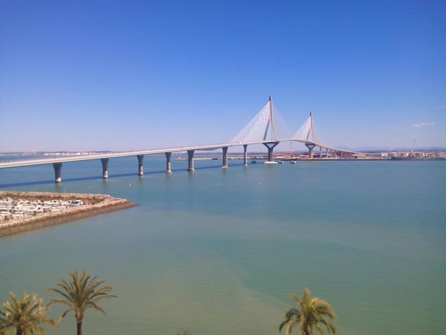Bridge Sea Cadiz Andalucía SPAIN Cadizfornia Cadizturismo Today ☺ Sunny Day Puente Día Soleado Sea And Sky Seaside Sea View Blue Sky Boats Summer