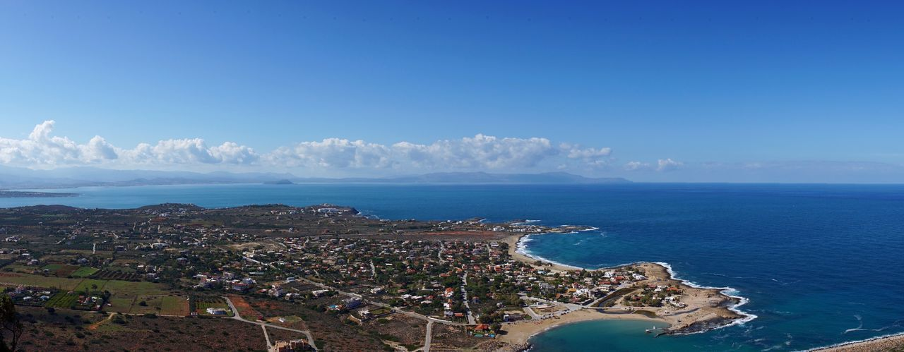 Stavros beach Sea Aerial View Cityscape Blue Horizon Over Water High Angle View Architecture Water Sky Outdoors Beach Scenics Day No People Clear Sky