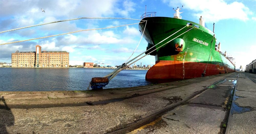 Birkenhead Docks Shipyard Panorama Panoramic Photography River Boat Wideangle Smartphonephotography
