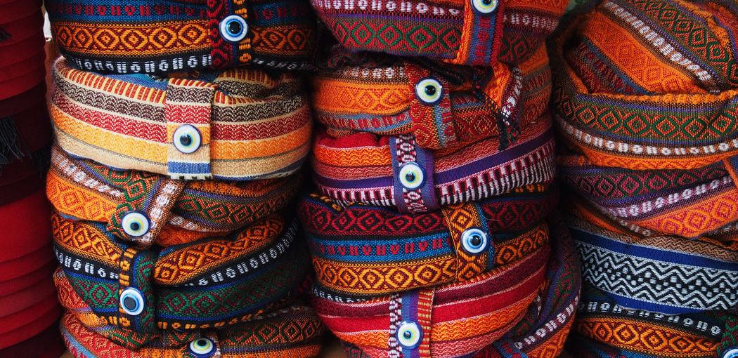 Full frame shot of turbans