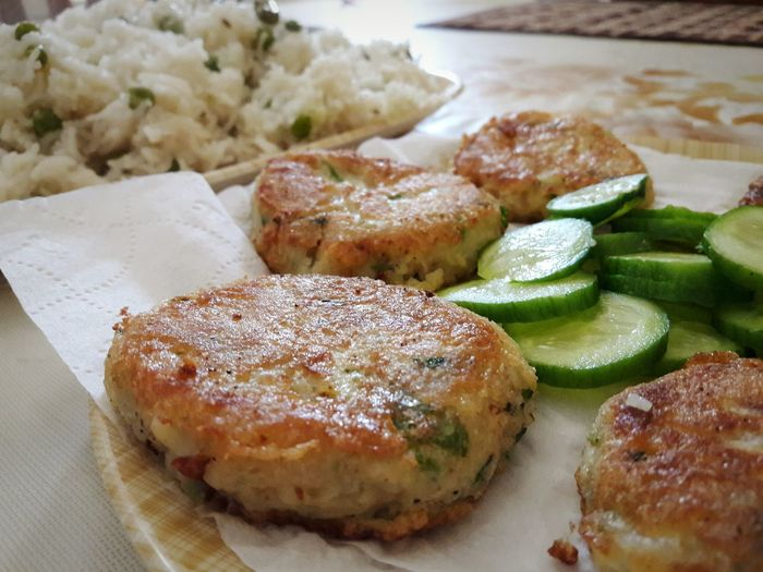 Cutlets Cucumber Fried Rice Food Foodporn Foodphotography Food Photography The Foodie - 2015 EyeEm Awards My World Of Food Pakistanifood Cuisine_captures EyeEm Best Shots Eye4photography  No Edit/no Filter EyeEmBestPics