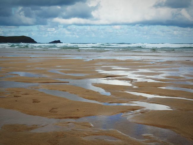 Fistral Beach Newquay Cornwall Sand Beach Sea Sea And Sky Surf Beach Water Reflections Early Morning Before The Crowd Comes Summer Hanging Out