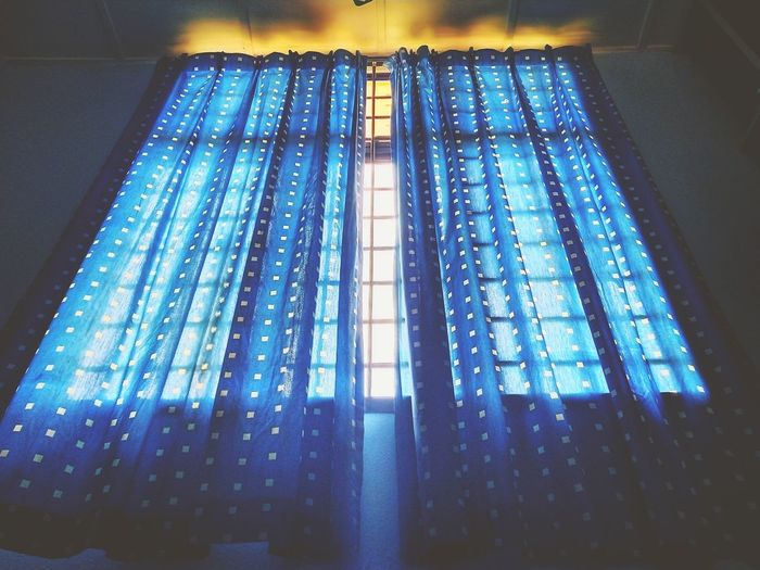 Low angle view of illuminated lights at home
