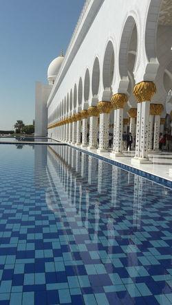 Sheik Zayed Mosque Abu Dhabi Water Reflections Sheikh Zayed Grand Mosque