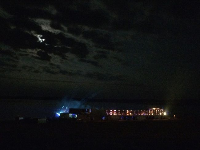 Beach Night Illuminated Sky Cloud - Sky Outdoors Feel Festival 2017 Light Installations Summer Colorful Arts Culture And Entertainment Music Electro Techno Party Beach Photography