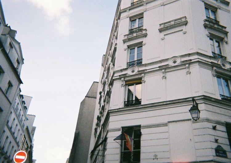 Le Marais Marais Paris Architecture City Lovewins Low Angle View No People Rainbow Flag