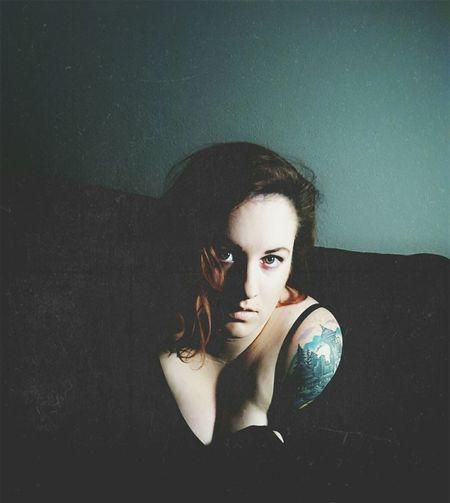 That's Me Check This Out Taking Photos Blackandwhite Tattooedwomen Tattoos Portrait Portrait Of A Woman