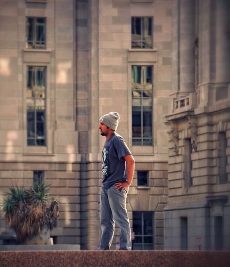 Soaking up the city • Finding one's place in a world staged by others before him • The Human Condition Dude City City Life Architecture Urban Architecture Washington, D. C. Peoplephotography People Around Town