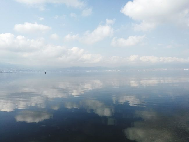 Deniz ve bulut ....... Sea and cloud ☁️🌊 Reflection Mountain Range Beauty In Nature Scenics Mountain No People Tranquility Outdoors Cloud - Sky Landscape Palette Paint Multi Colored Water Nature Day Lake Sky Tree Indoors