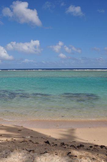 Agana Bay and Asan Beach, Guam Sea Sky Beach Beauty In Nature Scenics Nature Sand Blue Idyllic