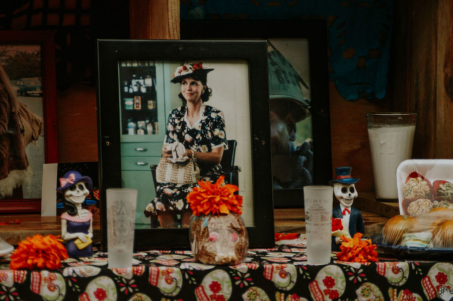 Altar No People Indoors  Store Flower Day Close-up Old Photos Altar De Muertos Movies Forest Gump Mom