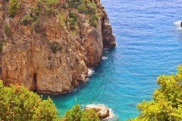Alanya Water Sea Beauty In Nature Plant Nature Tree Scenics - Nature Sunlight Blue
