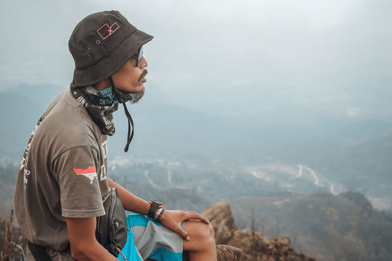 Full length of man against mountains