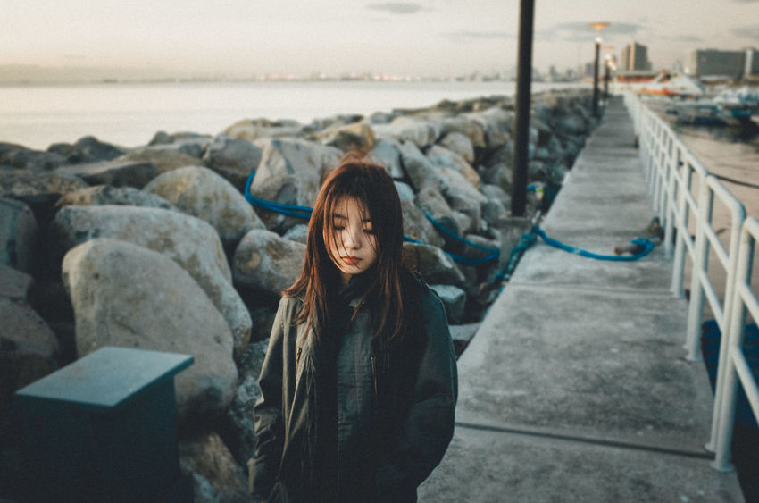 EyeEm Best Edits Eyeem Philippines Golden Hour Outdoors Portrait Portrait Of A Woman Seaside Women