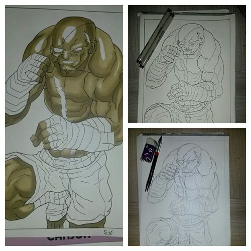 By Sam Sagat from street fighter W.I.P. Manga Art CAPCOM Dessin Art Gallery Comics My Art Sketch Drawing Doodle