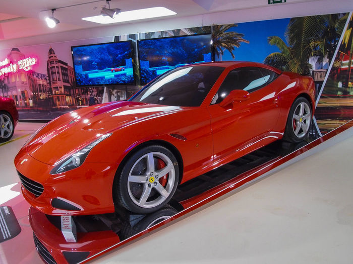 Cars Ferrari Car Illuminated Indoors  Italy Italy❤️ Italy🇮🇹 Land Vehicle Luxury Maranello Mode Of Transportation Motor Vehicle Museum Muzeum Red Retro Styled Speed Sports Car Transportation Wealth
