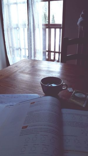 Study with tea and mountain Relaxing Taking Photos That's Me Hi! Enjoying Life Studying Organic Chemical Chemistry Green Tea