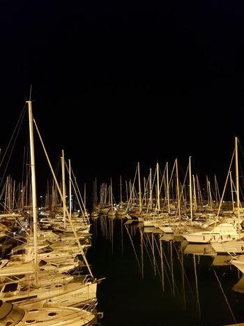 Barche a vela Night Talamone Tuscany Talamone Nightphotography Nautical Vessel Illuminated Water Sea Sky Boat Ship Harbor Port