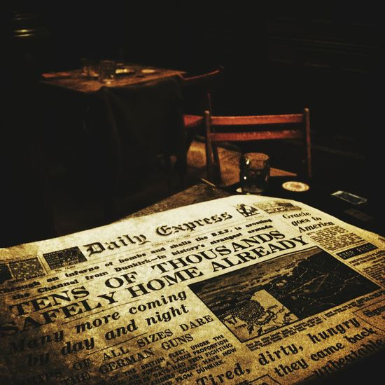 Old Newspaper Old News Props BletchleyPark Bar Seeing Ghosts Capturing History Enjoying History