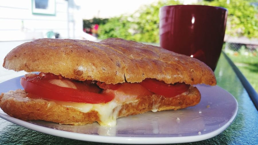 Breakfast Food Tasty Sossage Tomatoes Cheese Sunny Summer Summer Breakfast