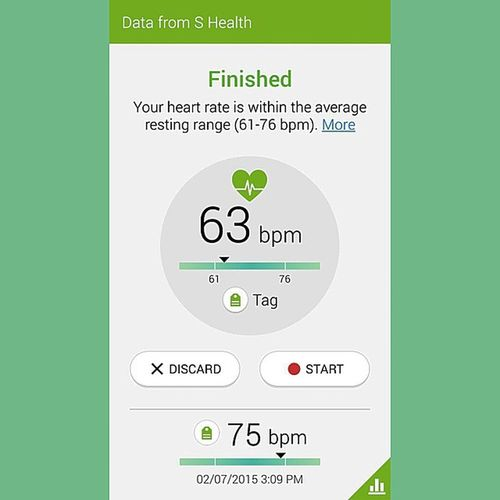Bedtime heart rate....... All signs point to living a stress free life..... Sfit Health Beatingheart Bedtime samsung stressfree normalrange bmp