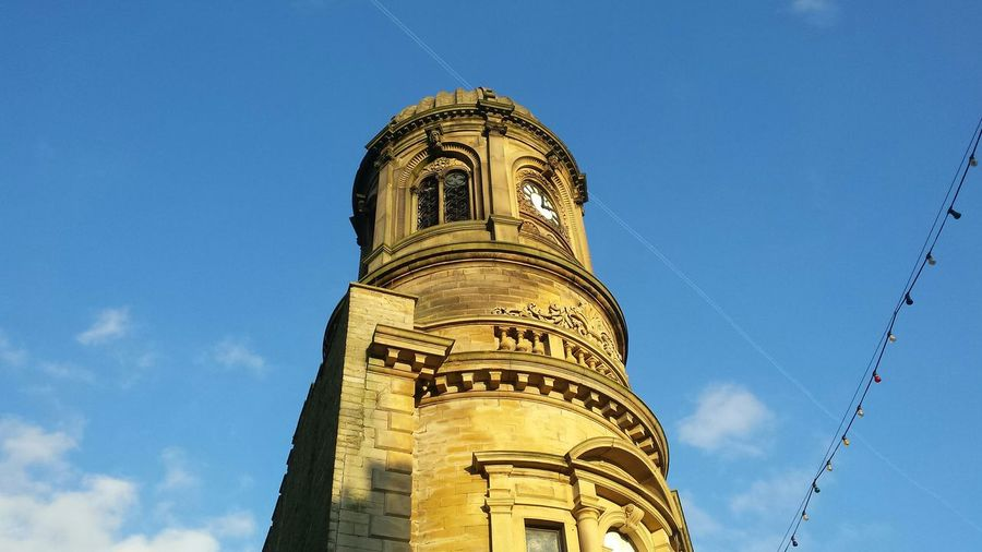 Low angle view of lloyds bank at sowerby bridge