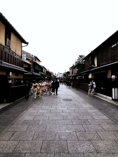 Street of Gion. In the past where Geisha used to entertain guest in the restaurant along this street. Geisha Japan Kyoto Gion Architecture Built Structure Building Exterior Sky The Way Forward Nature City Building Street