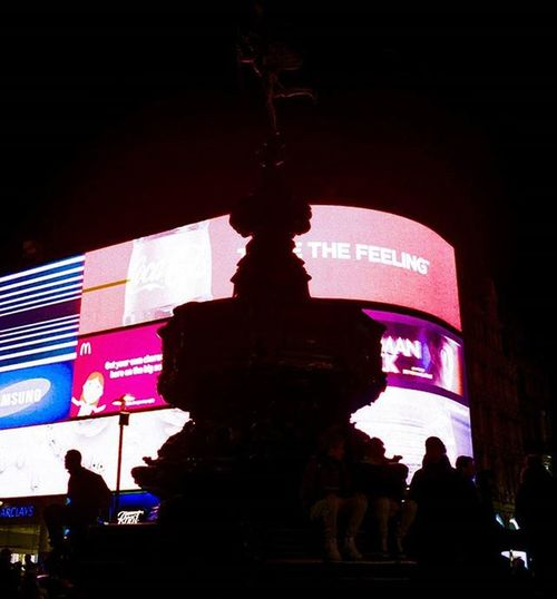 Where the arrow goes... Londonicons Londonstreets Eros Greekgods Mythology Myths Commercialism Streetphotography Analoguephotography Kodakportra400 Leica Leicauk Londonstreetphotography Piccadillycircus Thefeeling ColourPhotography Nightphotography Basiccolours