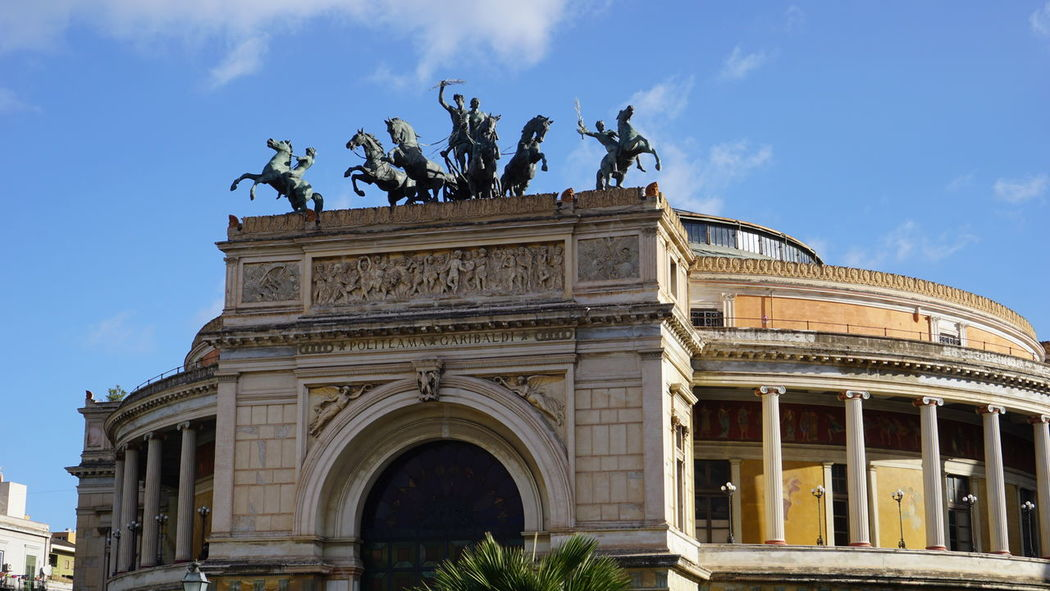 Politeama Theater. Piazza Politeama, Palermo, Sicily, Italy. Blue Sky Blue Italy Sicily Palermo Sony Photographer Sonyalpha Sony A6000 Photo Travel Travel Destinations Streetphotography Street Vacations Architecture_collection Horse Photography Vacation Horse Sculpture Horses Politeama Politeama Theatre Palermo Sicilia Italia Architectural Detail Architecture Politeama Theatre Palermo Sicilia Italia Politeama