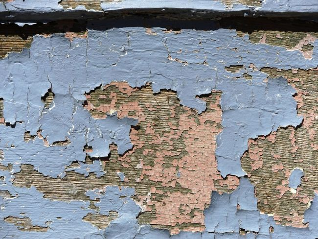 Architecture Backgrounds Bad Condition Blue Built Structure Close-up Cracked Damaged Deterioration Full Frame No People Obsolete Outdoors Paint Peeled Peeling Peeling Off Pink Ruined Run-down Textured  Wall - Building Feature Weathered Wood - Material