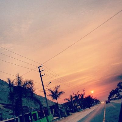 Landscape Sunset ThisView Cieneguilla theroad