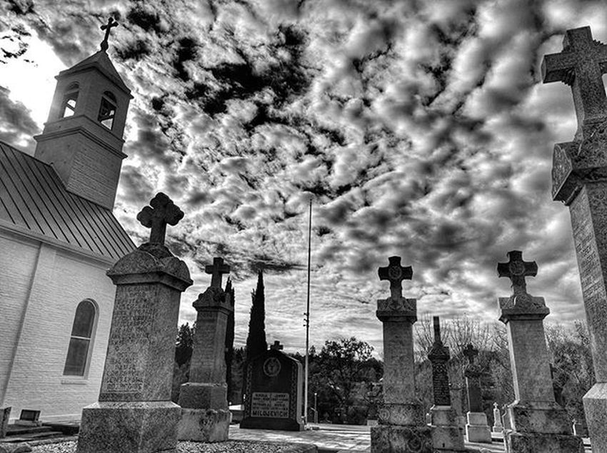 Church, Cemetery Graveyard Rip Death Sleep Church Blackandwhite Dramatic