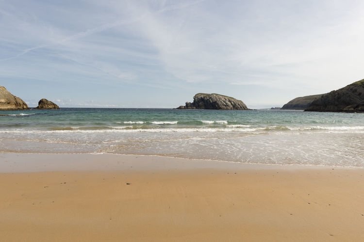 Cantabria Arnia Beach Beauty In Nature Coast Day Horizon Over Water Landscape Nature No People Ocean Outdoors Sand Scenics Sea Sky Tranquility Water Wave