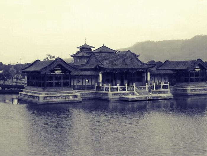 Houses in a lake