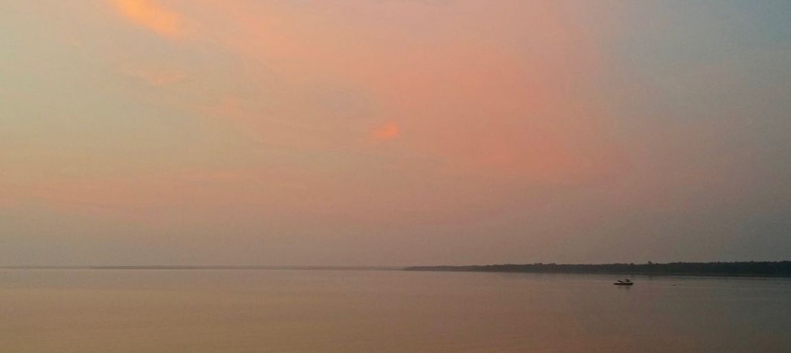 Early Calm Sunrise Fishing Pink Sky Calm Water Trees Horizon Over Water Boats Blue Sky