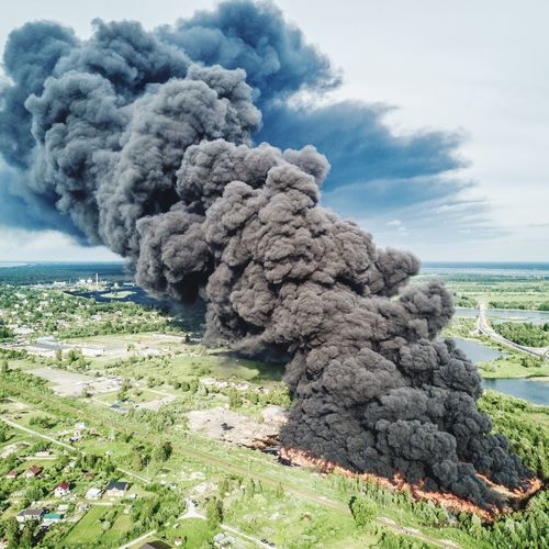 Huge fire Fire - Natural Phenomenon Fire Active Fire Nature Photography Dronephotography