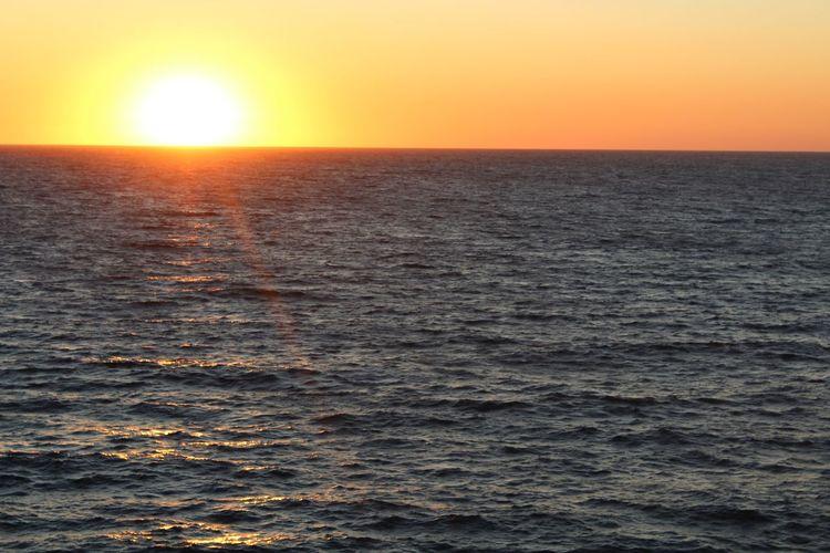 Sunset Sea Water Sky Scenics - Nature Beauty In Nature Horizon Over Water Sunlight