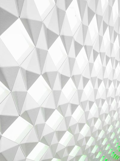 Folded light Green White High Key Origami Pattern Backgrounds Design Full Frame Textured  Shape Geometric Shape No People Checked Pattern Abstract Textile Indoors  White Color Woven Material Design Element Close-up EyeEmNewHere