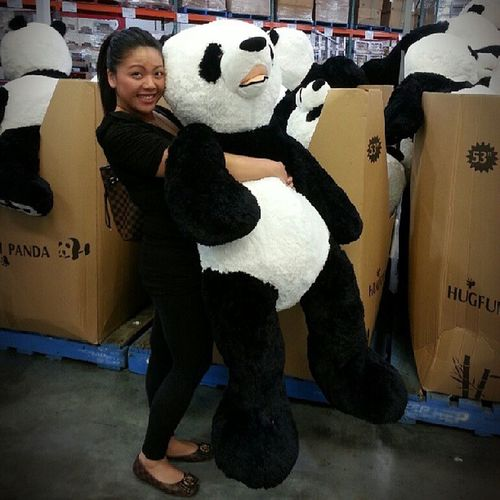 Panda Huge Costco Sameheightasme lolshortyblackandwhitenofilter