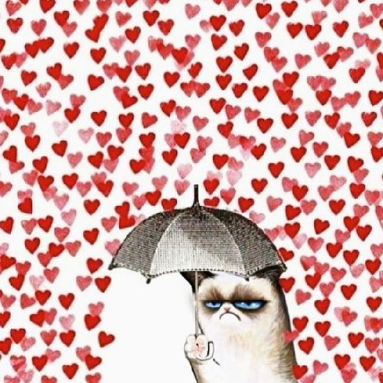 It's raining hearts, flowers and chocolates today! Good thing, I have an umbrella :3 Happyvalentinesday Hearts LoveMonth