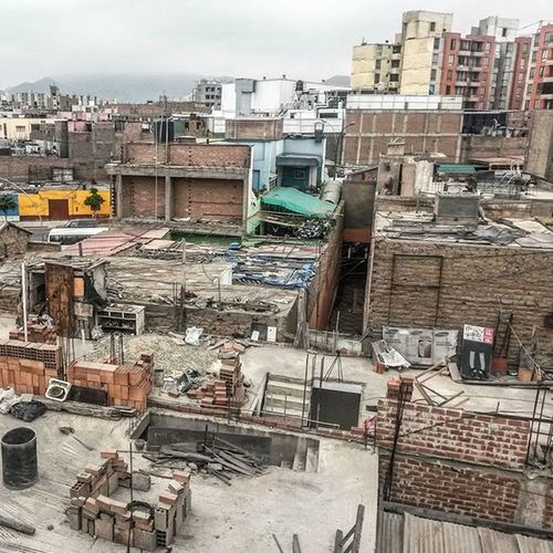 Lima, Peru. The only place I know where it looks like a bomb got dropped -but nothing happened.