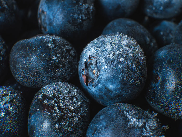 Healthy Breakfast: Close up of frozen blueberries, macro shot, top view Blueberry Breakfast Frozen Food Vegan Fruit Antioxidant Food And Drink Food Full Frame Close-up Freshness Backgrounds No People Wellbeing Indoors  Healthy Eating Large Group Of Objects Still Life Berry Fruit Selective Focus Textured  Focus On Foreground Day Detail Temptation