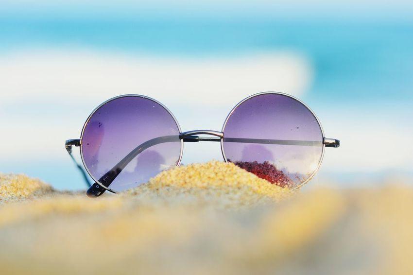Lenon Glasses Outdoors Sky No People Beachwear Sunglass  Sunglasses Goggles Indiapictures Pondicherry Eyewear WeekOnEyeEm TheWeekOnEyeEM Sand Blue Nikon D3100 The Weekend On EyeEm Vibrant Color