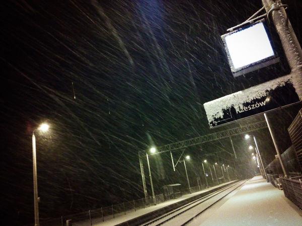 Swilcza Swilcza Illuminated Night Transportation No People Motion Outdoors Poland Arturhippe Pokojartura Sadangel Polishpriest Session Snow ❄ Snow Snowing Architecture